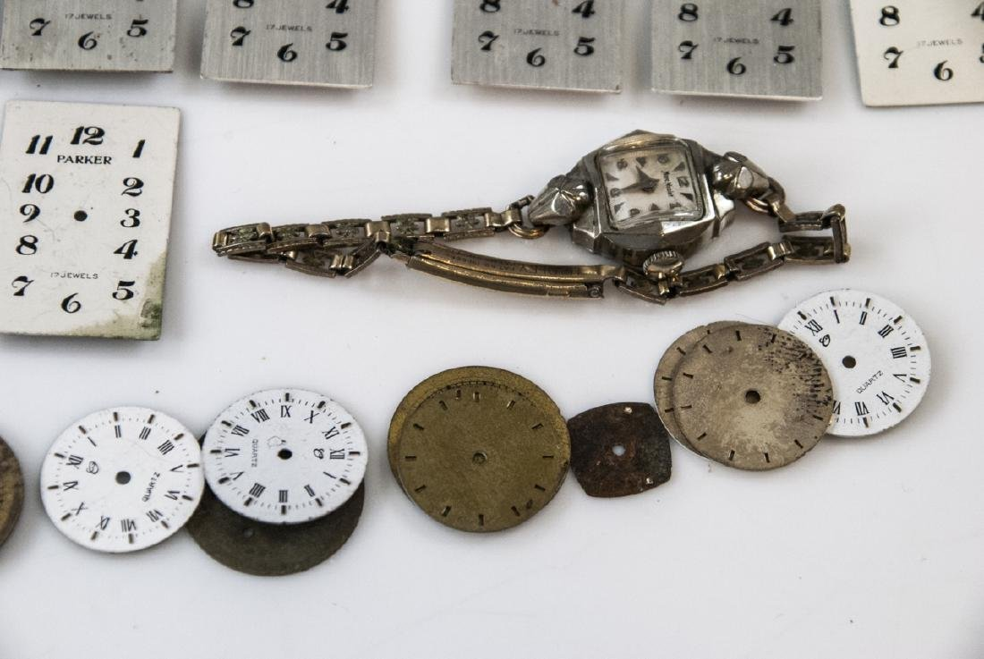 Collection of Antique Watches Faces, Cases & Parts - 5