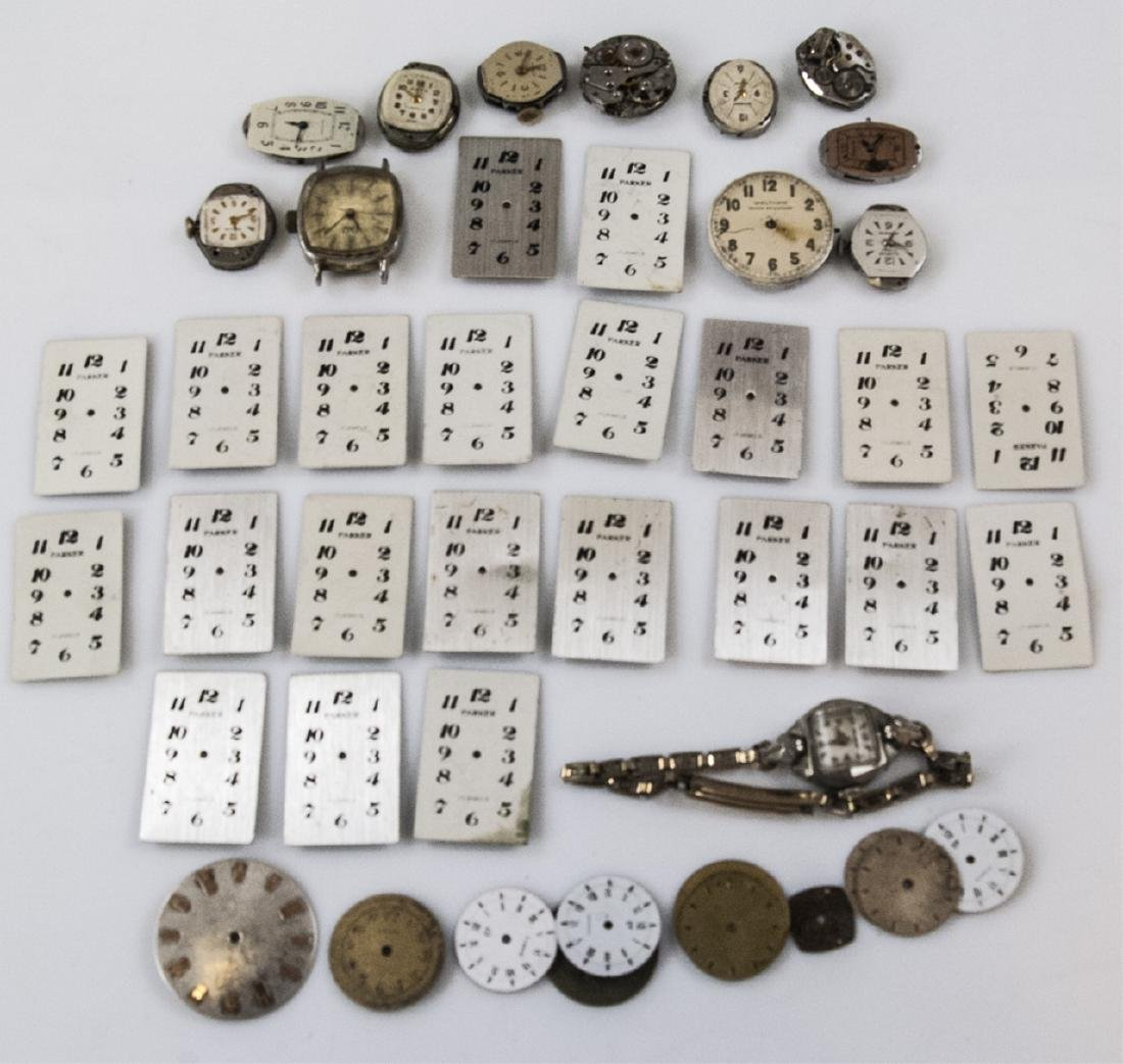 Collection of Antique Watches Faces, Cases & Parts - 7