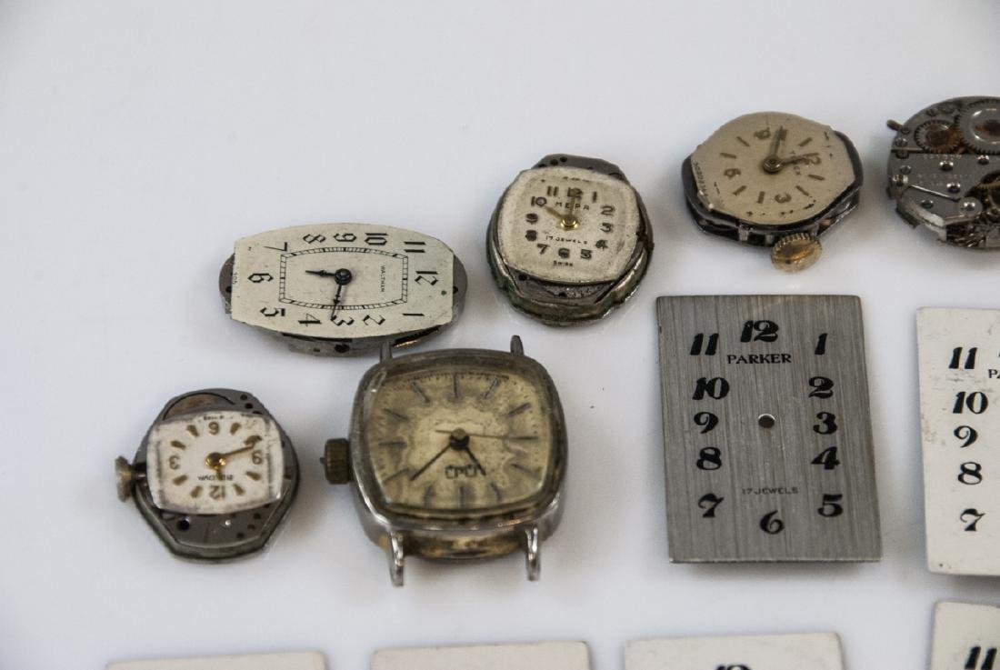 Collection of Antique Watches Faces, Cases & Parts - 8