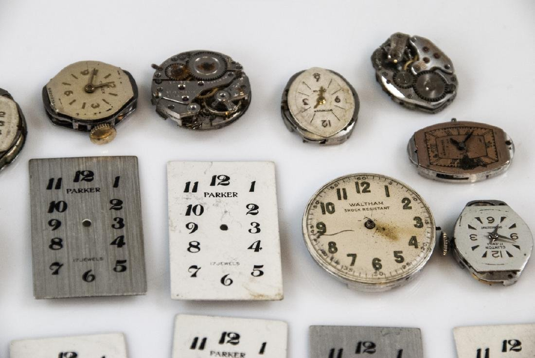 Collection of Antique Watches Faces, Cases & Parts - 9