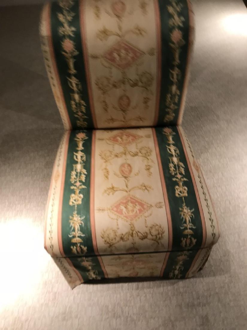 Custom Upholstered Slipper Chair w Neo Classical - 2