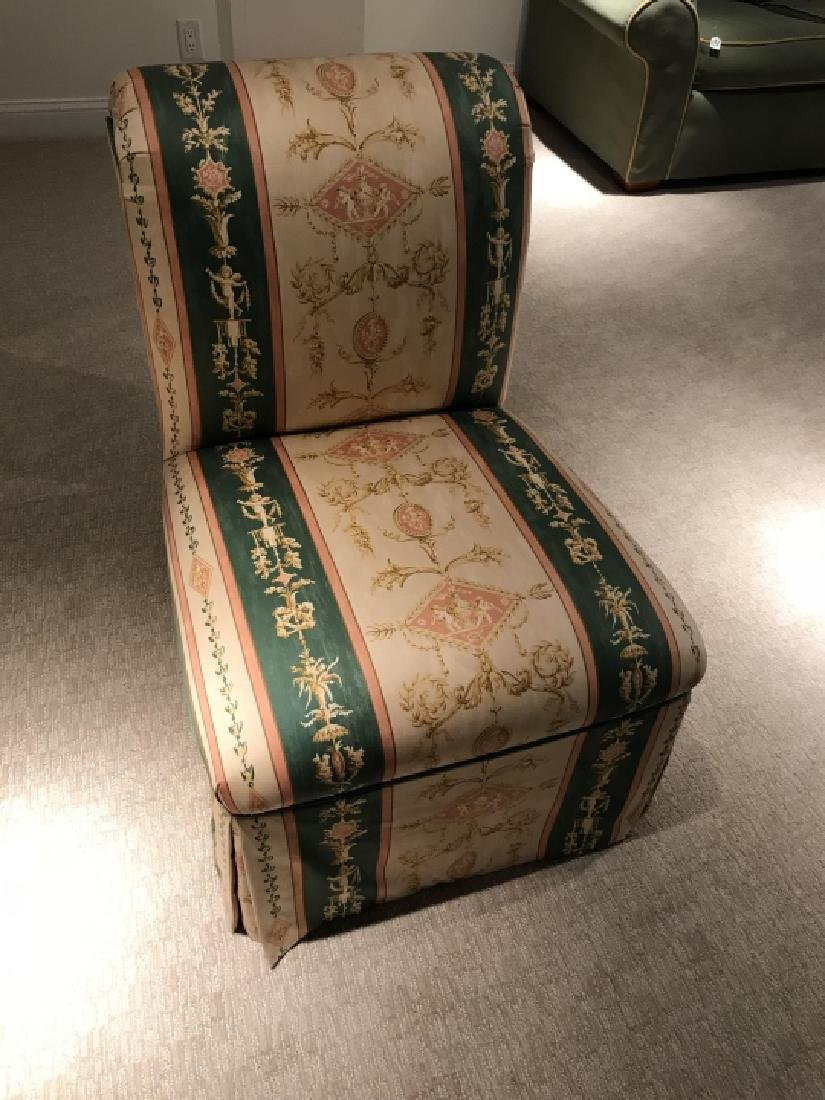 Custom Upholstered Slipper Chair w Neo Classical - 3
