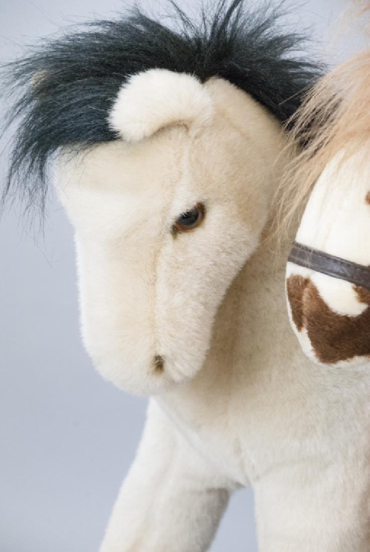 6 Plush Stuffed Toy Horses, Velvet Ponies, Steiff - 8