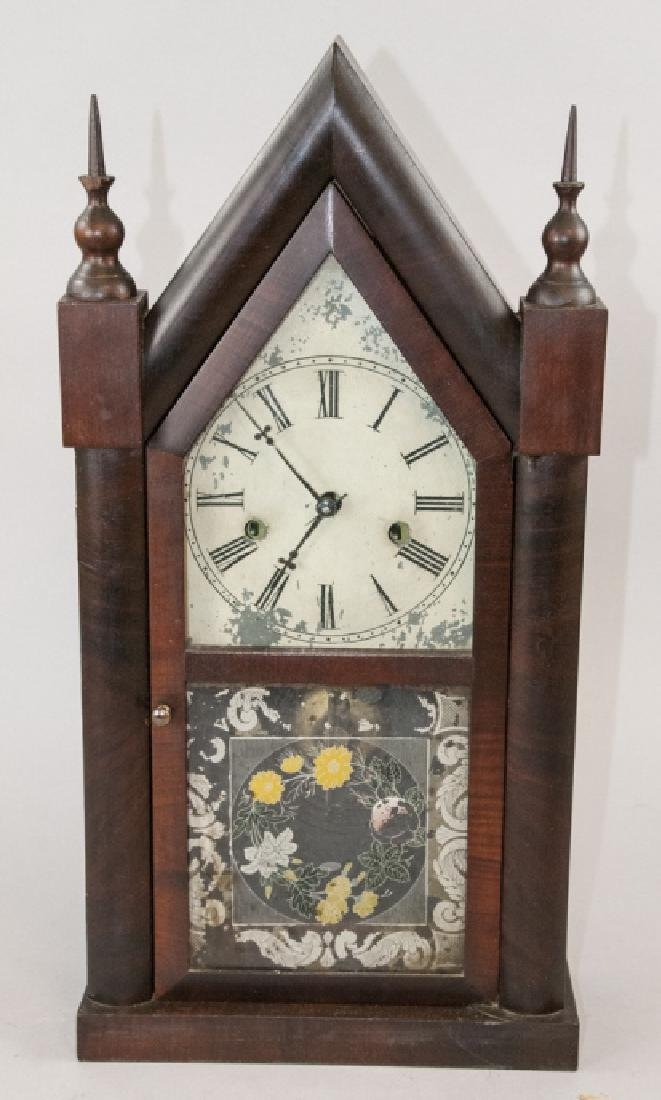 Antique Steeple Mantel Clock by E.N. Welch
