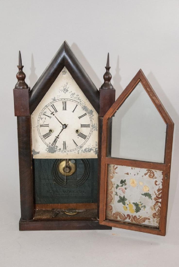 Antique Steeple Mantel Clock by E.N. Welch - 2