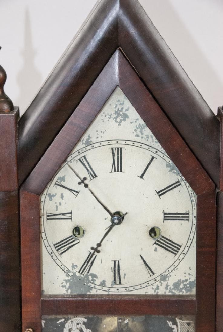 Antique Steeple Mantel Clock by E.N. Welch - 5