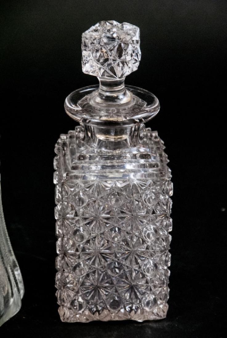 3 Antique Brilliant Period Glass Decanters - 2