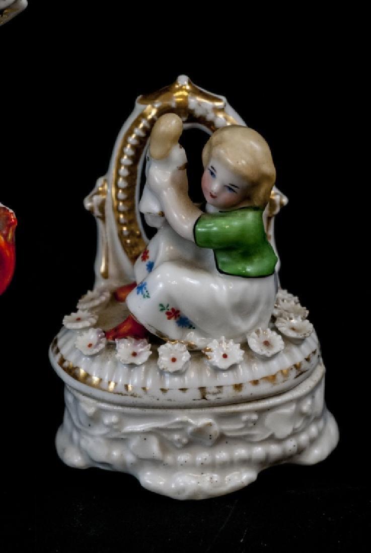 Antique Paris Porcelain Vase, Figurines, Boxes - 2