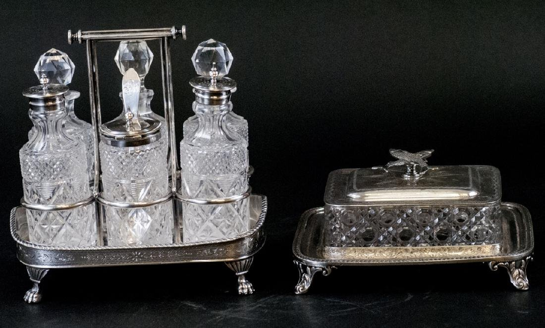Vint. Silver Plate Condiment Tray and Sardine Dish