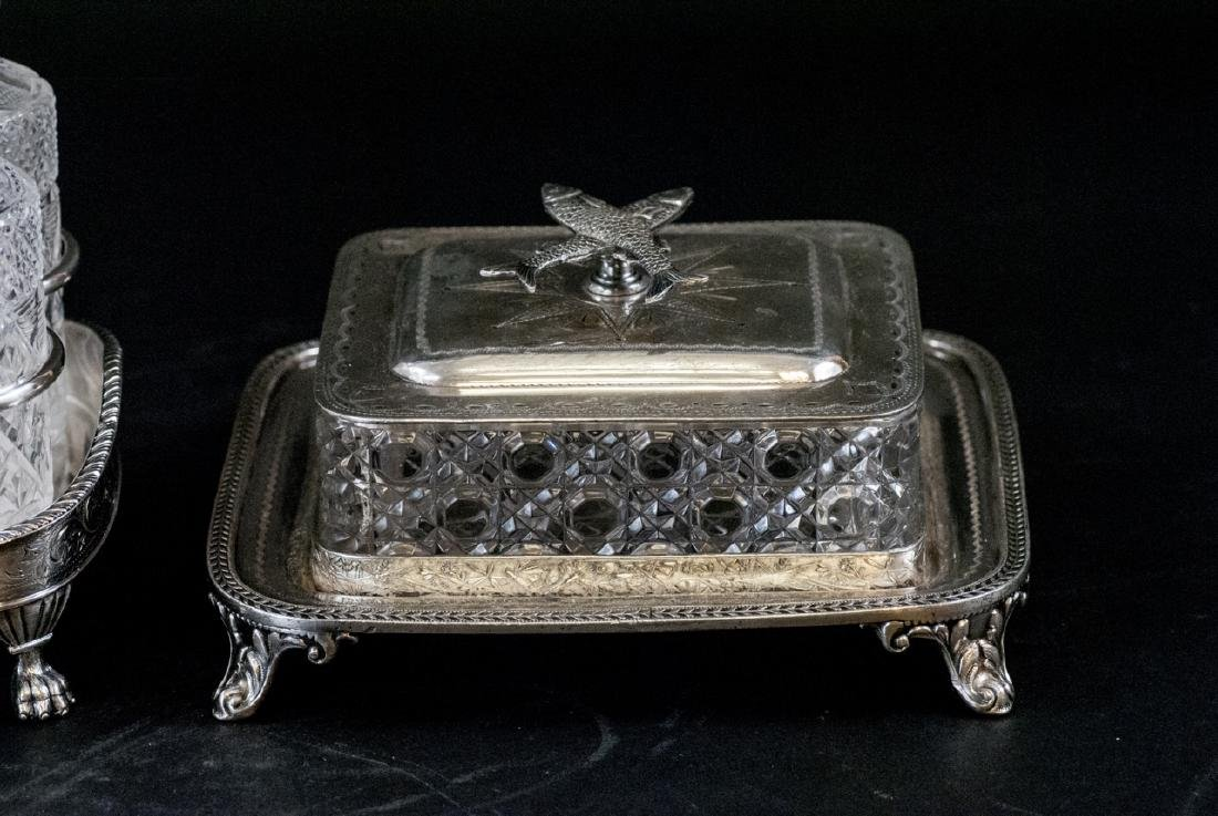 Vint. Silver Plate Condiment Tray and Sardine Dish - 2
