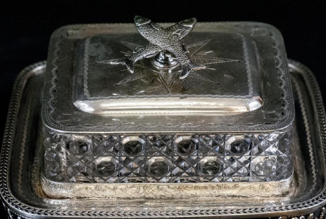 Vint. Silver Plate Condiment Tray and Sardine Dish - 6