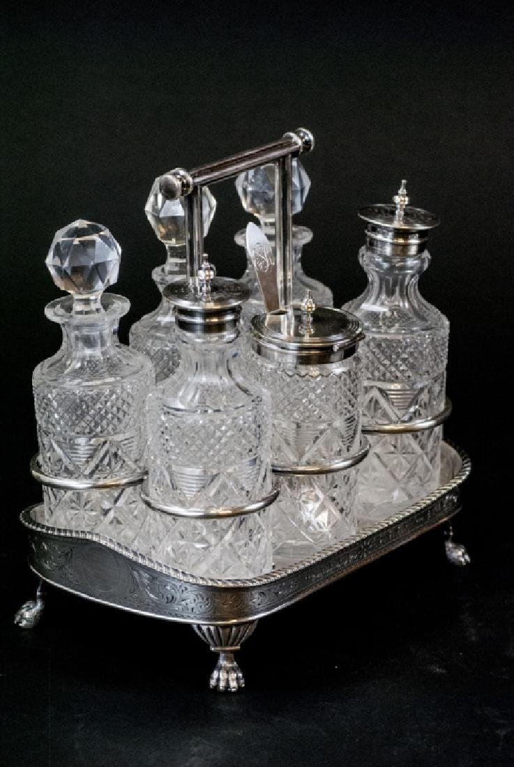 Vint. Silver Plate Condiment Tray and Sardine Dish - 7