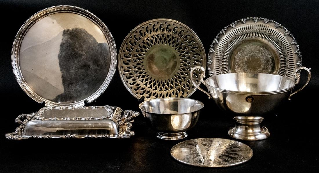 Assorted Contemporary Silver Plate Serving Pieces