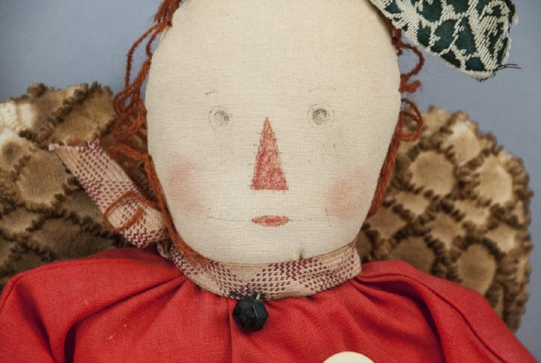 Pair Primitive Hand Made Dolls Americana Themes - 4