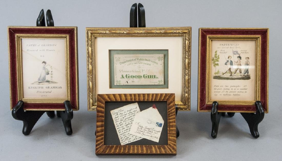Collection Framed Vintage Miniature Memorabilia