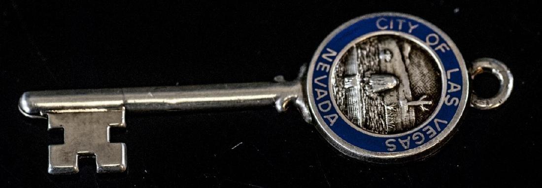Estate Sterling Silver Las Vegas Key Pendant Charm