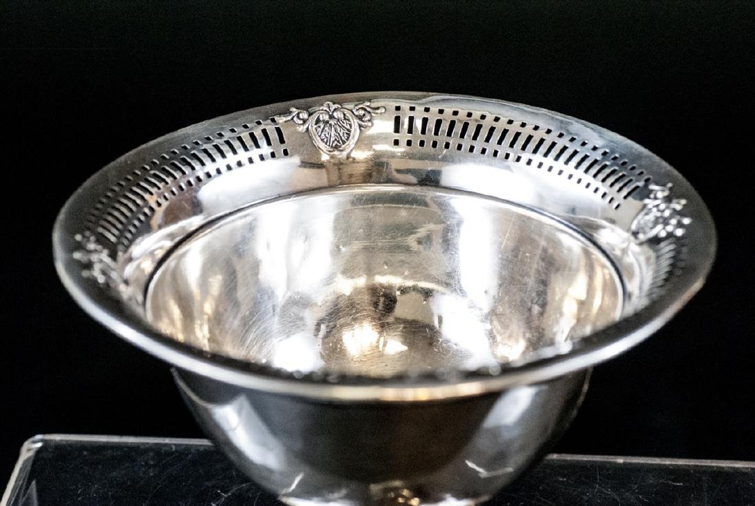 Sterling Silver Compote w Reticulated Border - 3