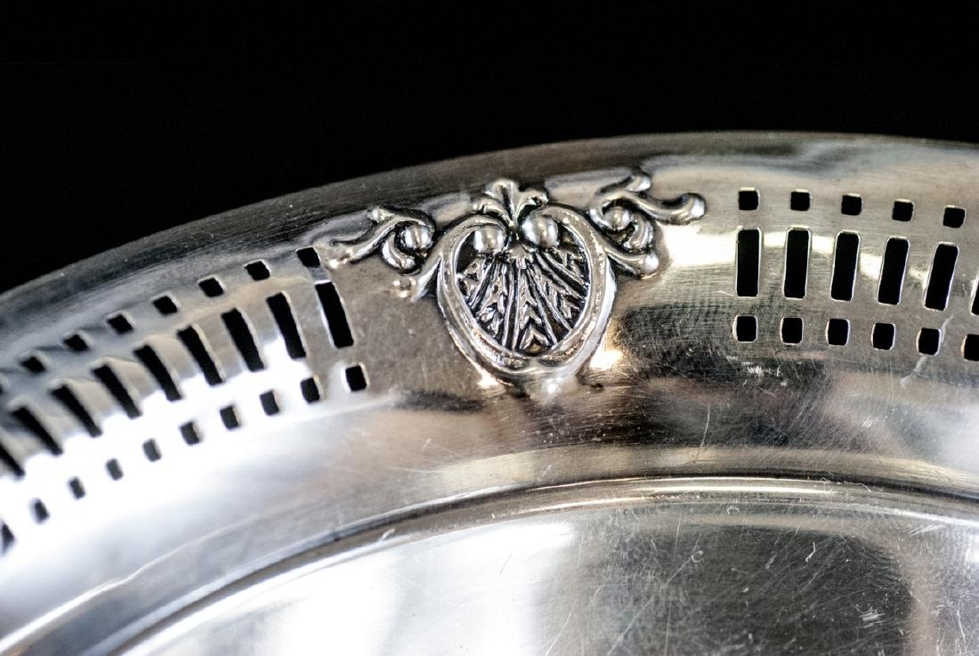 Sterling Silver Compote w Reticulated Border - 4