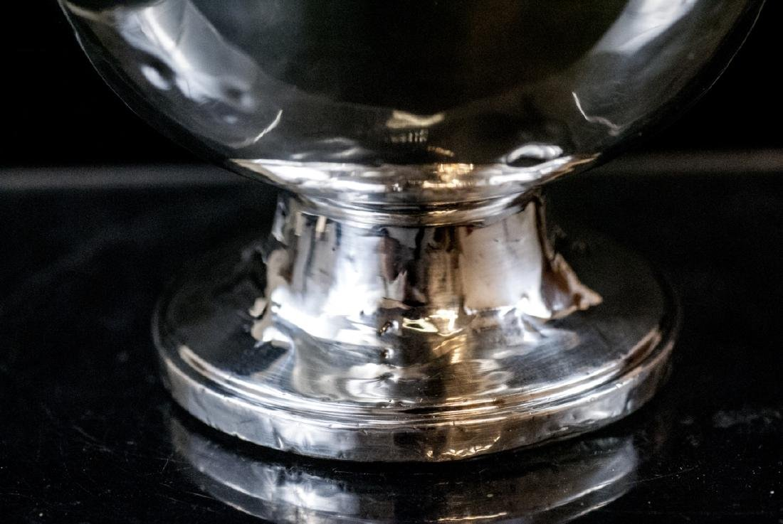 Sterling Silver Compote w Reticulated Border - 5