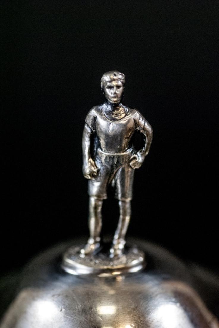 Silver Plate Urn Form Trophy w Figural Finial - 4