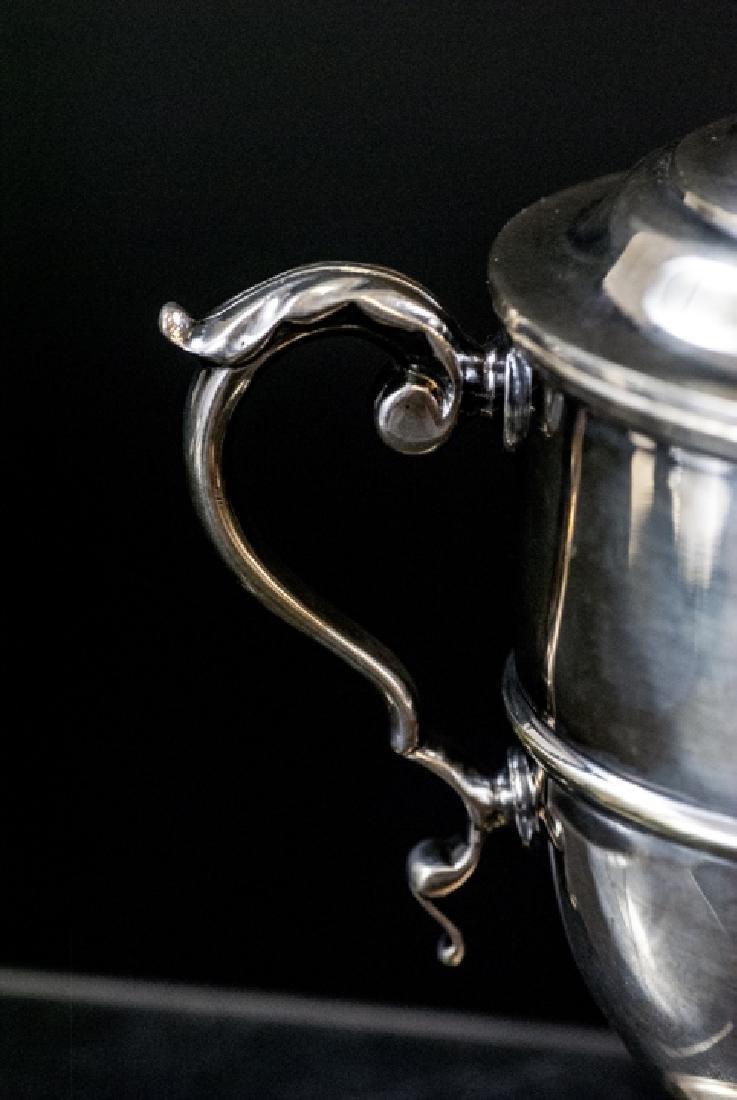Silver Plate Urn Form Trophy w Figural Finial - 5