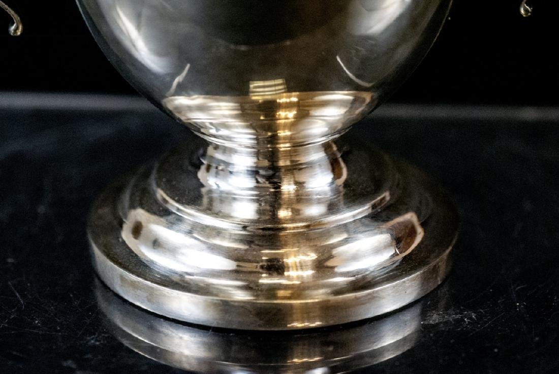 Silver Plate Urn Form Trophy w Figural Finial - 6