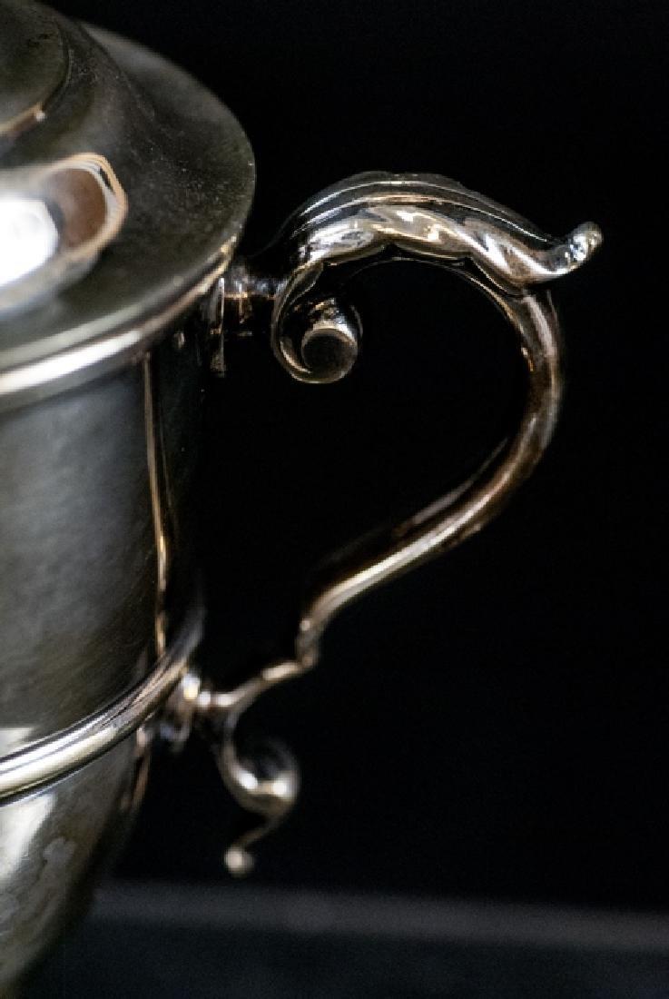 Silver Plate Urn Form Trophy w Figural Finial - 7