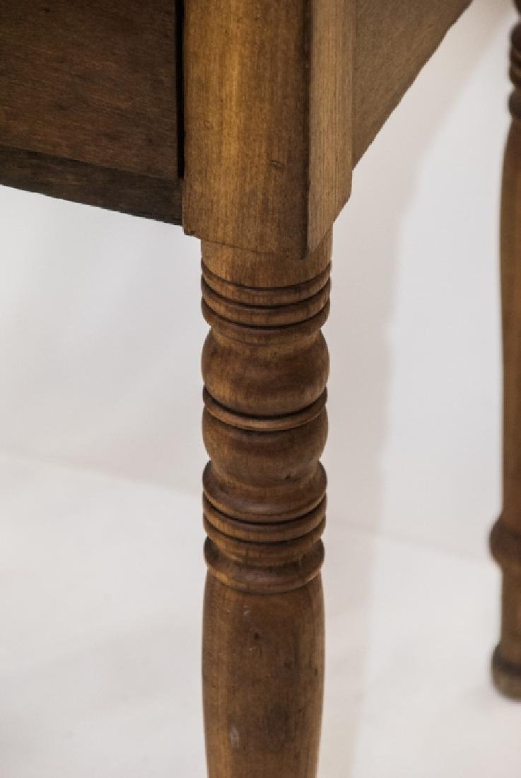 19th Century Ant. Spindle Leg 2 Drawer Side Table - 4