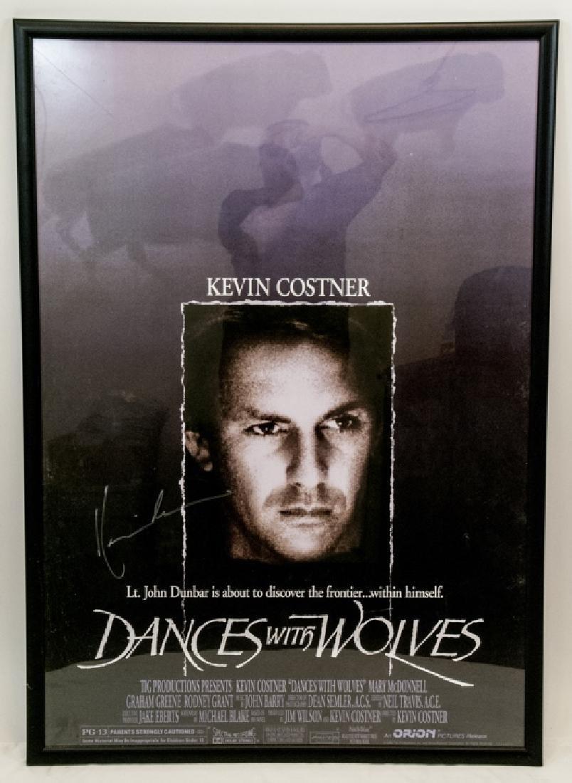 Kevin Costner  Autographed Dances W/ Wolves Poster