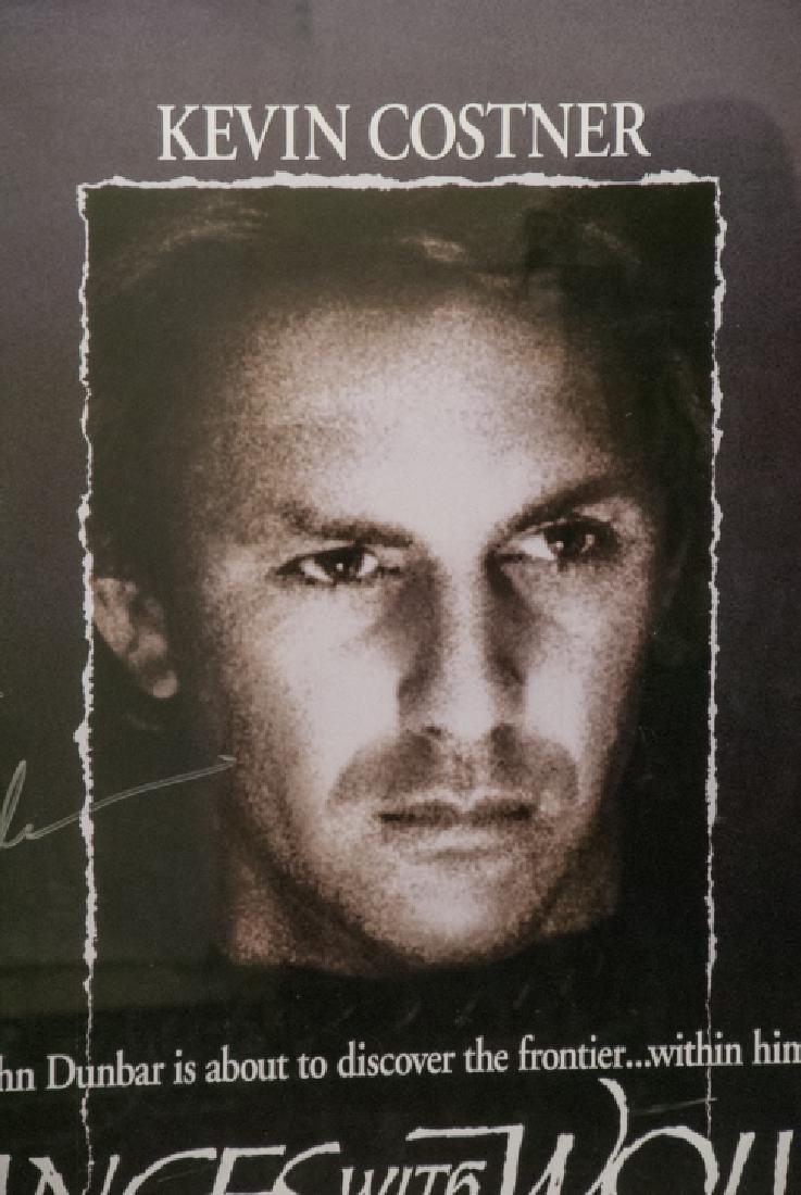 Kevin Costner  Autographed Dances W/ Wolves Poster - 3