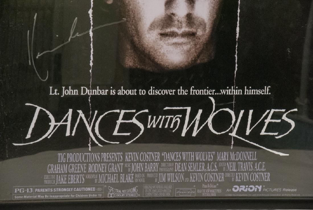 Kevin Costner  Autographed Dances W/ Wolves Poster - 4