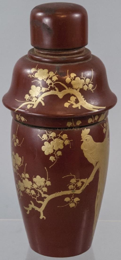 Japanese Hand Painted Lacquer Cocktail Shaker