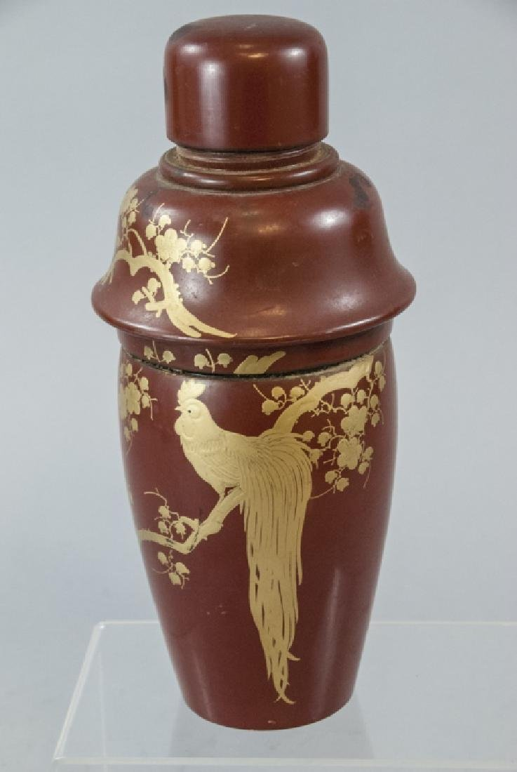 Japanese Hand Painted Lacquer Cocktail Shaker - 3