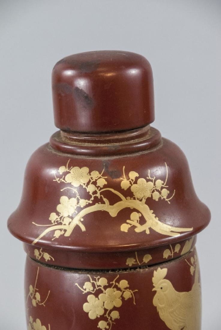 Japanese Hand Painted Lacquer Cocktail Shaker - 5