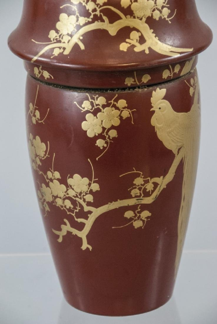 Japanese Hand Painted Lacquer Cocktail Shaker - 6