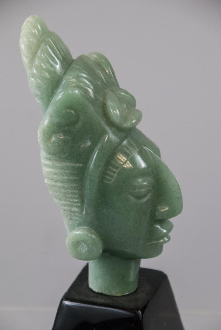 Hand Carved Hardstone South American Statue - 2