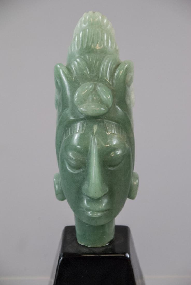 Hand Carved Hardstone South American Statue - 3