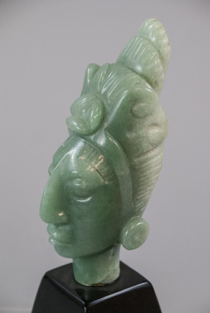 Hand Carved Hardstone South American Statue - 4