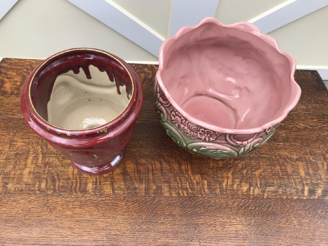 Majolica Cache Pot & Neo Classical Urn Form Pot - 2