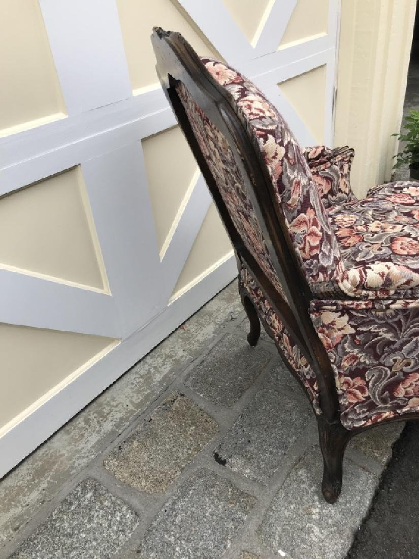 French Country Carved Frame Tapestry Armchair - 4