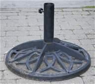 Vintage Cast Iron Patio Umbrella Stand