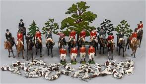 Lot of Antique Hand Painted Toy Figures Hunting