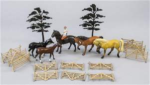 Lot of Antique Hand Painted Figures Equestrian