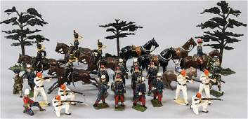 Lot of Antique Hand Painted Toy Soldiers