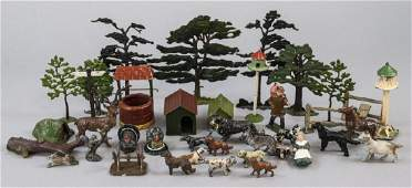 Lot of Antique Toy Figures Country Dwelling