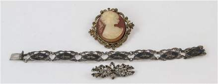 Three Pieces of Costume & Silver Jewelry