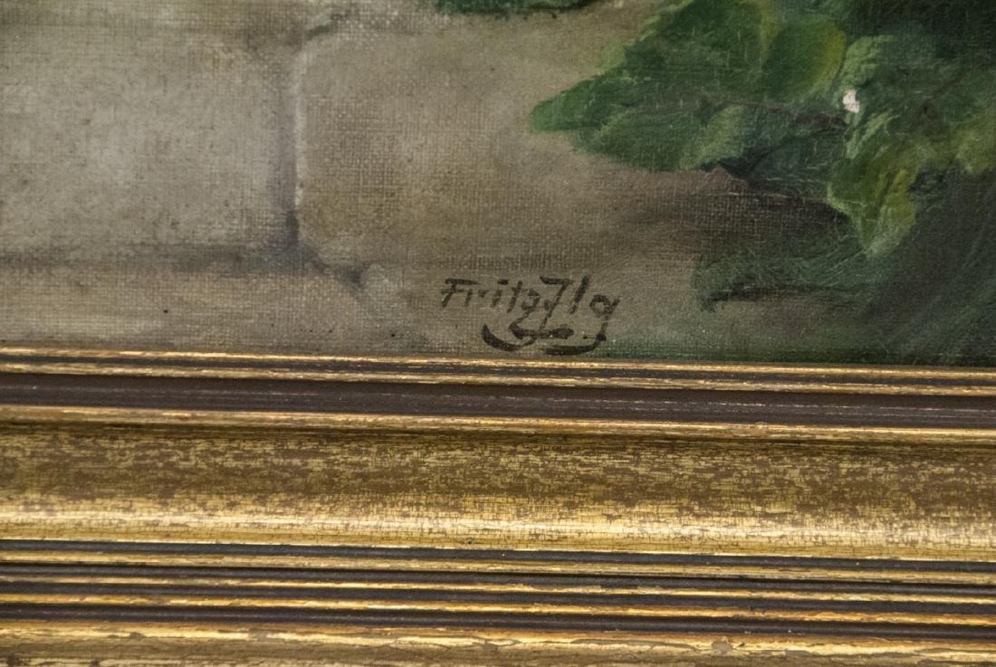 Fritz Fig 19th C Oil Painting Interior Genre Scene - 4