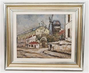 Maurice Utrillo - Original Oil Painting on Board