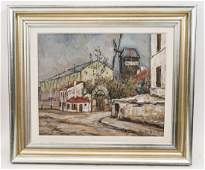 Maurice Utrillo  Original Oil Painting on Board