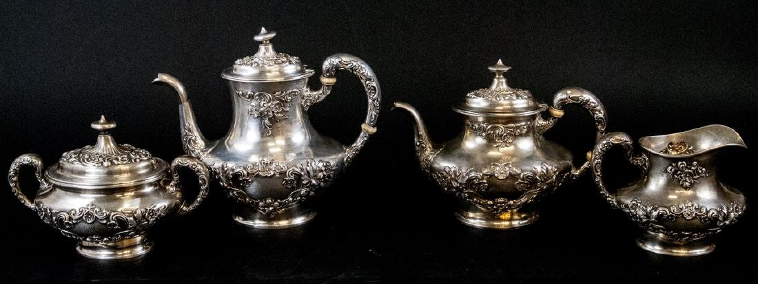 Antique Gorham Sterling Silver Tea / Coffee Set